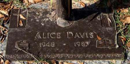 DAVIS, ALICE - Saline County, Arkansas | ALICE DAVIS - Arkansas Gravestone Photos