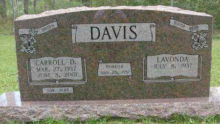 DAVIS, CARROLL D. - Saline County, Arkansas   CARROLL D. DAVIS - Arkansas Gravestone Photos