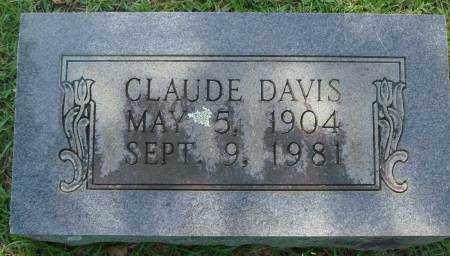 DAVIS, CLAUDE - Saline County, Arkansas | CLAUDE DAVIS - Arkansas Gravestone Photos