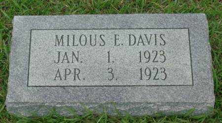 DAVIS, MILOUS E - Saline County, Arkansas   MILOUS E DAVIS - Arkansas Gravestone Photos