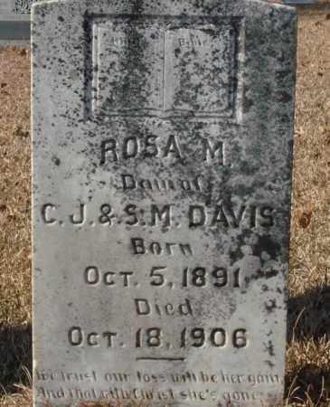 DAVIS, ROSA M. - Saline County, Arkansas   ROSA M. DAVIS - Arkansas Gravestone Photos