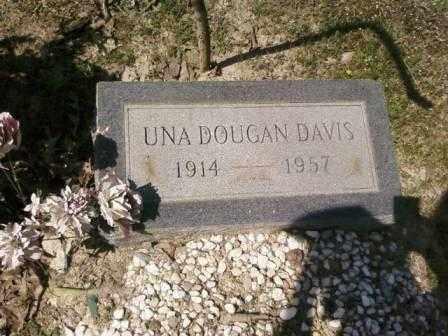 DAVIS, UNA - Saline County, Arkansas   UNA DAVIS - Arkansas Gravestone Photos
