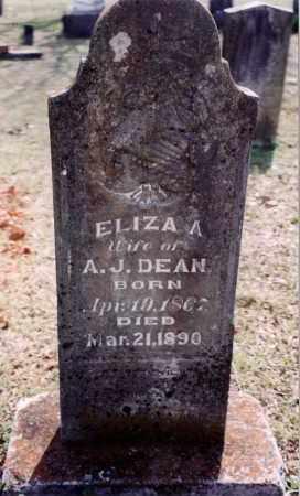 DEAN, ELIZA A - Saline County, Arkansas | ELIZA A DEAN - Arkansas Gravestone Photos
