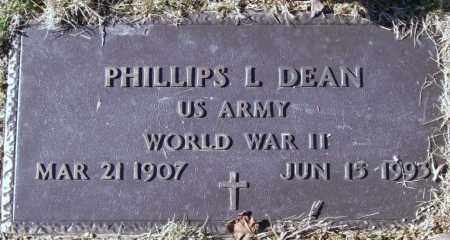 DEAN (VETERAN WWII), PHILLIPS L. - Saline County, Arkansas | PHILLIPS L. DEAN (VETERAN WWII) - Arkansas Gravestone Photos