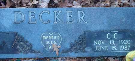DECKER, COLEMAN C - Saline County, Arkansas | COLEMAN C DECKER - Arkansas Gravestone Photos