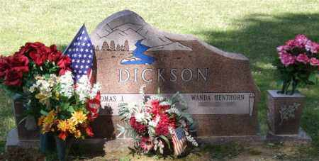 DICKSON, THOMAS J - Saline County, Arkansas | THOMAS J DICKSON - Arkansas Gravestone Photos