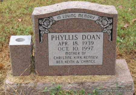 DOAN, PHYLLIS - Saline County, Arkansas   PHYLLIS DOAN - Arkansas Gravestone Photos