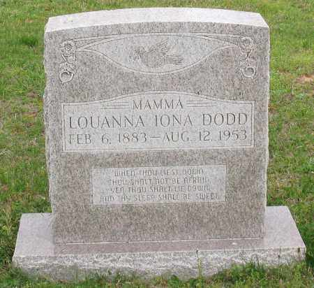 DODD, LOUANNA IONA - Saline County, Arkansas | LOUANNA IONA DODD - Arkansas Gravestone Photos