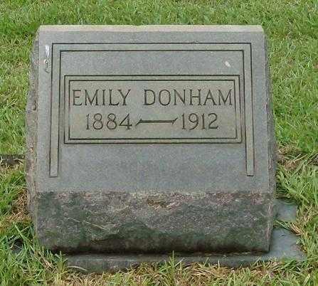 DONHAM, EMILY - Saline County, Arkansas | EMILY DONHAM - Arkansas Gravestone Photos