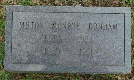 DONHAM, MILTON MONROE - Saline County, Arkansas | MILTON MONROE DONHAM - Arkansas Gravestone Photos