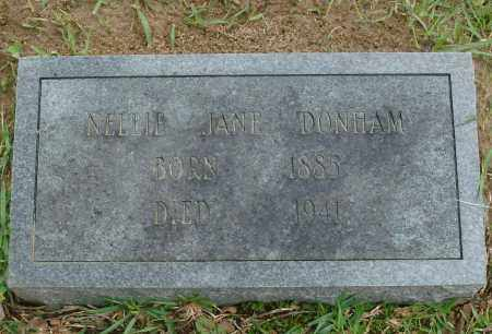 DONHAM, NELLIE JANE - Saline County, Arkansas | NELLIE JANE DONHAM - Arkansas Gravestone Photos