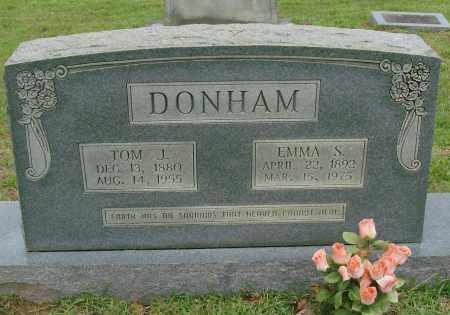 DONHAM, EMMA S - Saline County, Arkansas   EMMA S DONHAM - Arkansas Gravestone Photos