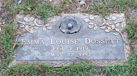 DOSSETT, EMMA LOUISE - Saline County, Arkansas | EMMA LOUISE DOSSETT - Arkansas Gravestone Photos