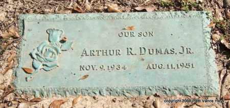 DUMAS, JR., ARTHUR R. - Saline County, Arkansas | ARTHUR R. DUMAS, JR. - Arkansas Gravestone Photos