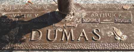 DUMAS, VALLIE V. - Saline County, Arkansas | VALLIE V. DUMAS - Arkansas Gravestone Photos