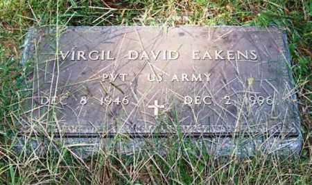EAKENS (VETERAN), VIRGIL DAVID - Saline County, Arkansas   VIRGIL DAVID EAKENS (VETERAN) - Arkansas Gravestone Photos
