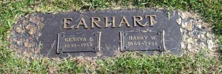 EARHART, GENEVA E. - Saline County, Arkansas | GENEVA E. EARHART - Arkansas Gravestone Photos