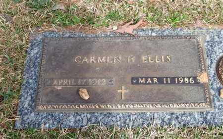 ELLIS, CARMEN H. - Saline County, Arkansas   CARMEN H. ELLIS - Arkansas Gravestone Photos