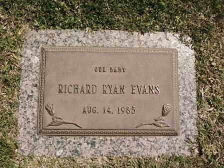 EVANS, RICHARD RYAN - Saline County, Arkansas   RICHARD RYAN EVANS - Arkansas Gravestone Photos