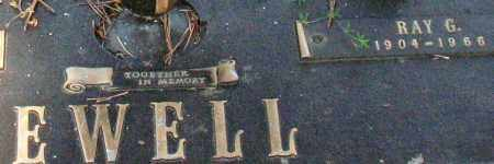 EWELL, RAY G. (CLOSEUP) - Saline County, Arkansas | RAY G. (CLOSEUP) EWELL - Arkansas Gravestone Photos
