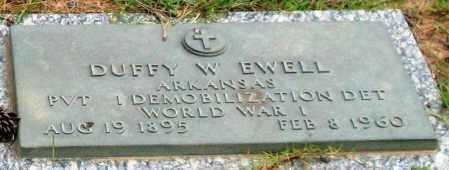 EWELL (VETERAN WWI), DUFFY W - Saline County, Arkansas | DUFFY W EWELL (VETERAN WWI) - Arkansas Gravestone Photos