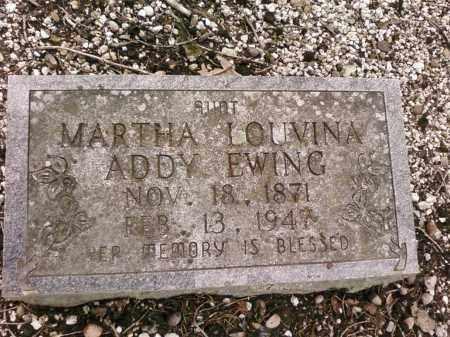 ADDY EWING, MARTHA - Saline County, Arkansas | MARTHA ADDY EWING - Arkansas Gravestone Photos