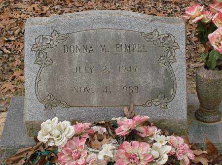 FIMPEL, DONNA M - Saline County, Arkansas | DONNA M FIMPEL - Arkansas Gravestone Photos