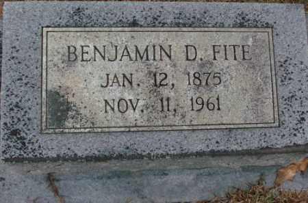 FITE, BENJAMIN D. - Saline County, Arkansas   BENJAMIN D. FITE - Arkansas Gravestone Photos