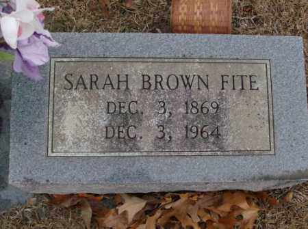 FITE, SARAH - Saline County, Arkansas | SARAH FITE - Arkansas Gravestone Photos