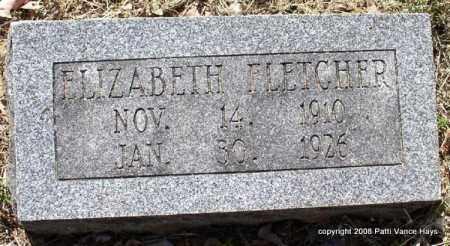 FLETCHER, ELIZABETH - Saline County, Arkansas | ELIZABETH FLETCHER - Arkansas Gravestone Photos