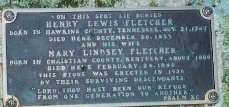 LINDSEY FLETCHER, MARY (CLOSEUP) - Saline County, Arkansas | MARY (CLOSEUP) LINDSEY FLETCHER - Arkansas Gravestone Photos
