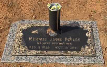 FOILES, KERMIT JUNE - Saline County, Arkansas | KERMIT JUNE FOILES - Arkansas Gravestone Photos
