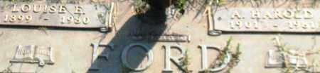 FORD, A. HAROLD (CLOSEUP) - Saline County, Arkansas | A. HAROLD (CLOSEUP) FORD - Arkansas Gravestone Photos