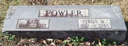 FOWLER, SYRUS W. - Saline County, Arkansas   SYRUS W. FOWLER - Arkansas Gravestone Photos
