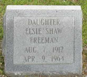 SHAW FREEMAN, ELSIE - Saline County, Arkansas | ELSIE SHAW FREEMAN - Arkansas Gravestone Photos