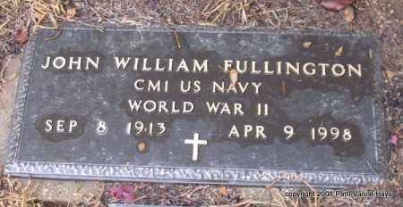 FULLINGTON (VETERAN WWII), JOHN WILLIAM - Saline County, Arkansas | JOHN WILLIAM FULLINGTON (VETERAN WWII) - Arkansas Gravestone Photos