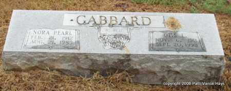 GABBARD, OTIS L. - Saline County, Arkansas   OTIS L. GABBARD - Arkansas Gravestone Photos