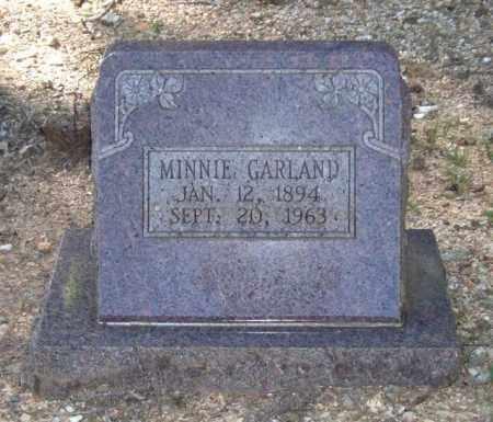 GARLAND, MINNIE - Saline County, Arkansas | MINNIE GARLAND - Arkansas Gravestone Photos