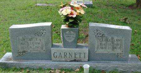 GARNETT, WILLIE R - Saline County, Arkansas | WILLIE R GARNETT - Arkansas Gravestone Photos