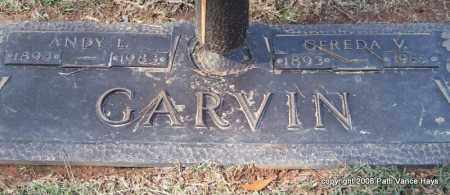 GARVIN, ANDY L. - Saline County, Arkansas   ANDY L. GARVIN - Arkansas Gravestone Photos
