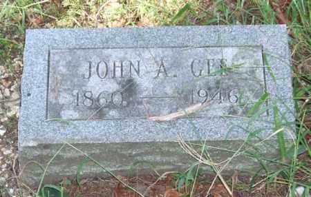 GEE, JOHN A. - Saline County, Arkansas   JOHN A. GEE - Arkansas Gravestone Photos