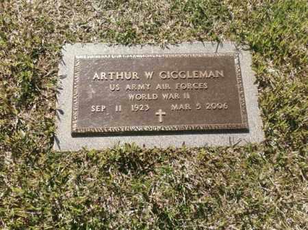 GIGGLEMAN (VETERAN WWII), ARTHUR W - Saline County, Arkansas | ARTHUR W GIGGLEMAN (VETERAN WWII) - Arkansas Gravestone Photos