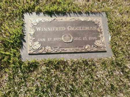 GIGGLEMAN, WINNIFRED - Saline County, Arkansas   WINNIFRED GIGGLEMAN - Arkansas Gravestone Photos