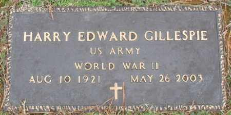 GILLESPIE (VETERAN WWII), HARRY EDWARD - Saline County, Arkansas | HARRY EDWARD GILLESPIE (VETERAN WWII) - Arkansas Gravestone Photos