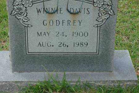 DAVIS GODFREY, WINNIE - Saline County, Arkansas | WINNIE DAVIS GODFREY - Arkansas Gravestone Photos