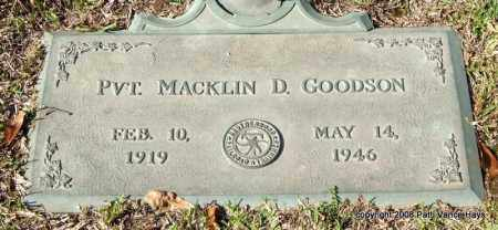 GOODSON (VETERAN), MACKLIN D - Saline County, Arkansas   MACKLIN D GOODSON (VETERAN) - Arkansas Gravestone Photos