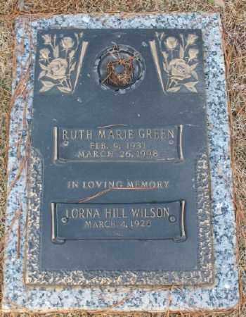 GREEN, RUTH MARIE - Saline County, Arkansas | RUTH MARIE GREEN - Arkansas Gravestone Photos