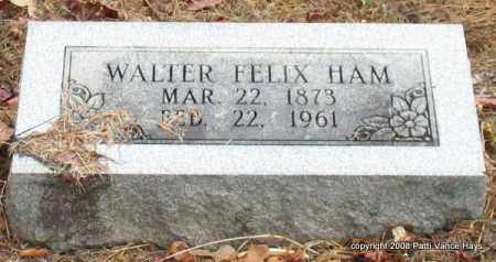 HAM, WALTER FELIX - Saline County, Arkansas   WALTER FELIX HAM - Arkansas Gravestone Photos