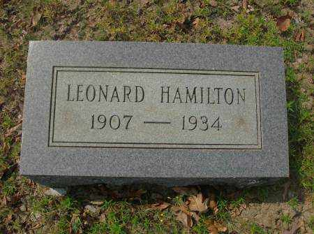 HAMILTON, LEONARD - Saline County, Arkansas | LEONARD HAMILTON - Arkansas Gravestone Photos