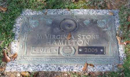 STONE HAMILTON, M. VIRGINIA - Saline County, Arkansas | M. VIRGINIA STONE HAMILTON - Arkansas Gravestone Photos